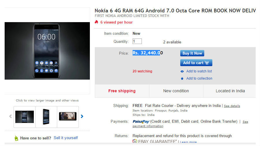 nokia-6-on-ebay