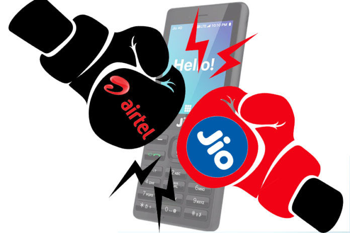 Reliance Jio rs 555 plan Bharti Airtel rs 558 plan comparison benefits data voice calling free iuc offer