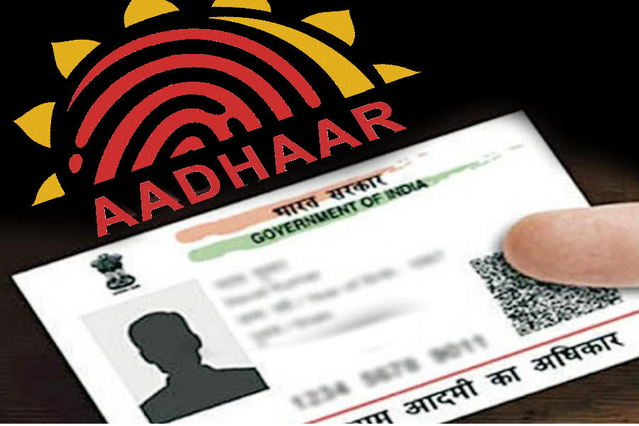 how to see services link with aadhar card