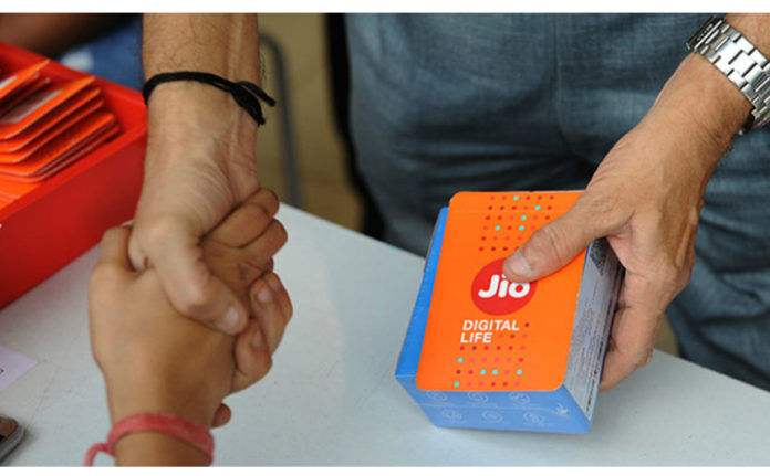 Reliance jio subscribers reach 38 crores last financial quarter 1284 crore GB 87634 minute voice call
