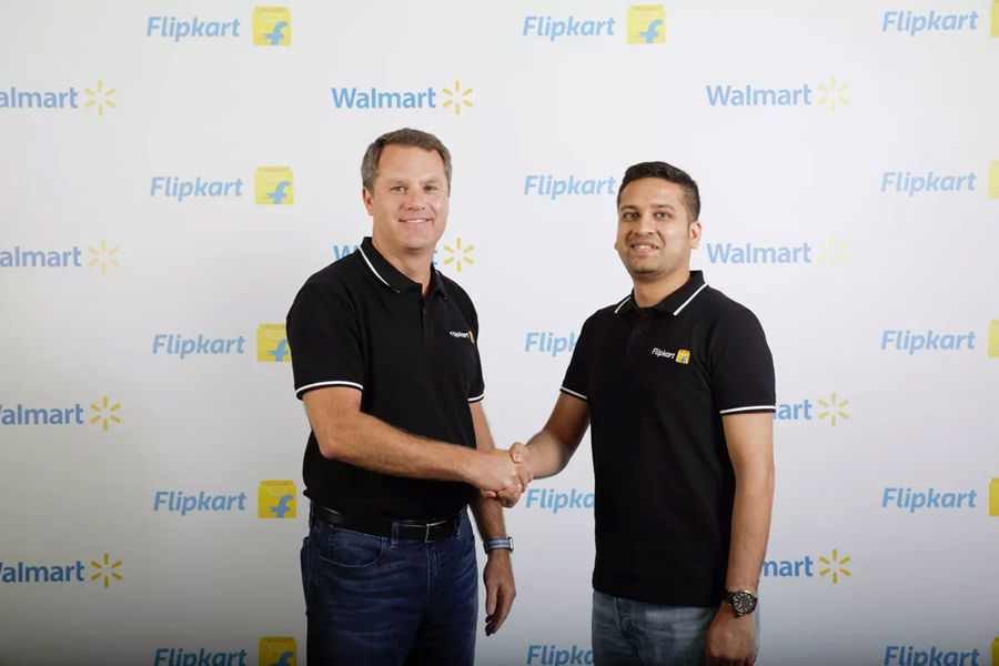 Walmart Flipkart deal Walmart CEO Doug McMillon and Flipkart Co-Founder and CEO Binny Bansal