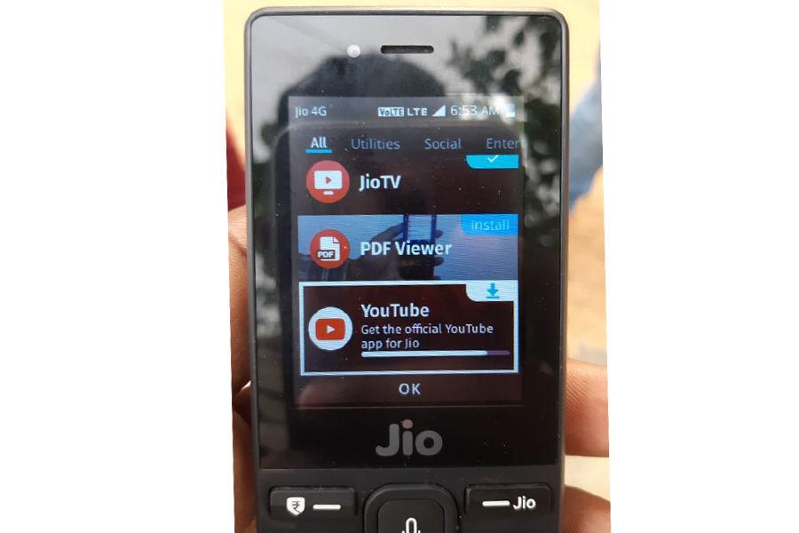 jiophone-youtube