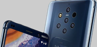 nokia 9 pureview in display fingerprint reader unlocking chewing gum