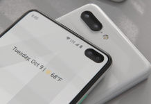 Google Pixel 4 screen protector dual punch hole selfie camera leaked
