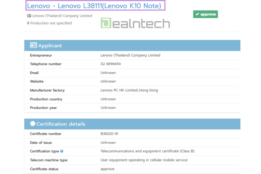lenovo-k10-note-certified-nbtc-specifications-leaked-z6-lite