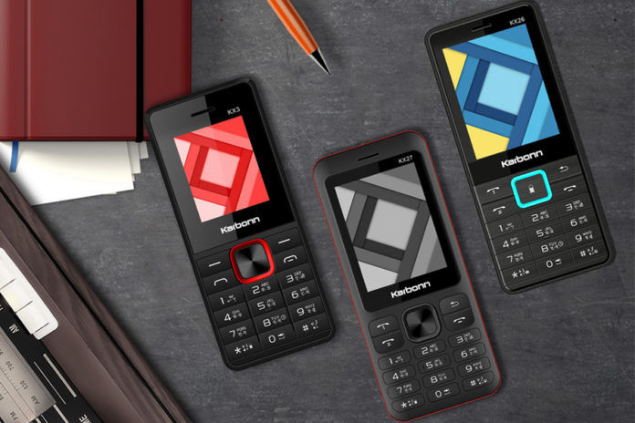 Karbonn Mobiles KX27 KX26 KX25 KX3 feature phone launched india price