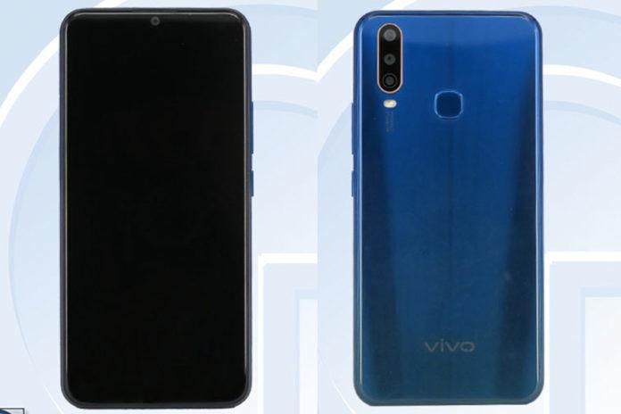 Vivo V1928A listed on tenna triple rear camera 4880mah battery