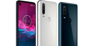 Motorola One Action punch hole display triple rear camera official specs price features