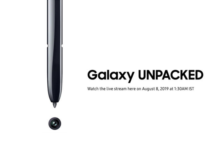 samsung Unpacked event Galaxy Note 10 how to watch live in india