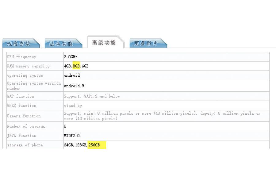 xiaomi redmi note 8 with 8 gb ram 256 gb storage specifications