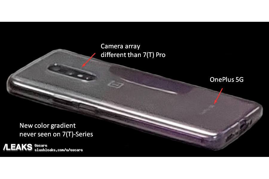 OnePlus 8 real photo image leaked front back panel dual punch hole rear camera 3 5mm audio jack