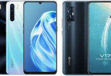 vivo v17 vs oppo f15 smartphone Comparison specifications price performance camera