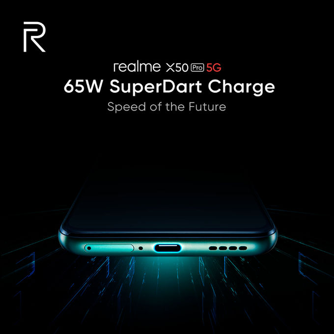 Realme X50 Pro snapdragon 865 dual 5g mode 65W SuperDart Charge punch hole full specs launch date 24 february