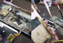 Xiaomi Redmi Note 6 Pro blast in gujarat india battery fire smoke