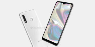 Samsung Galaxy A70e render image leaked design triple rear camera revealed