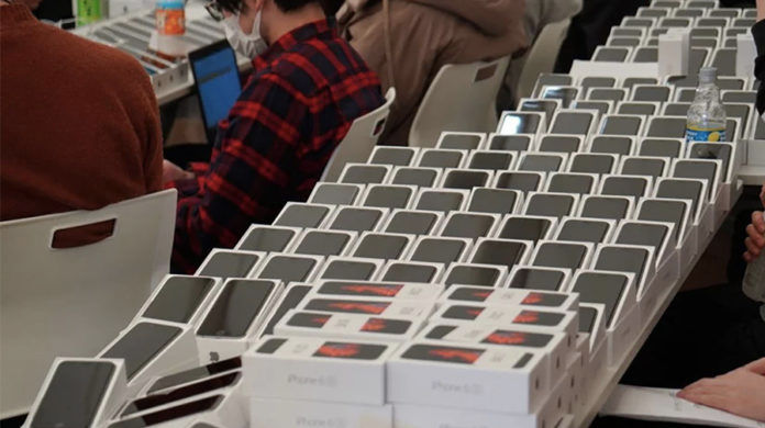 2000 Apple iPhone 6s unit distributed to Diamond Princess coronavirus cruise ship