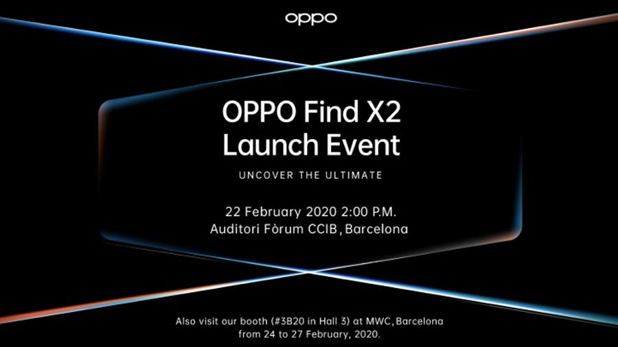 OPPO Find X2 with Qualcomm Snapdragon 865 5g phone to launch on 22 february company sends media invites