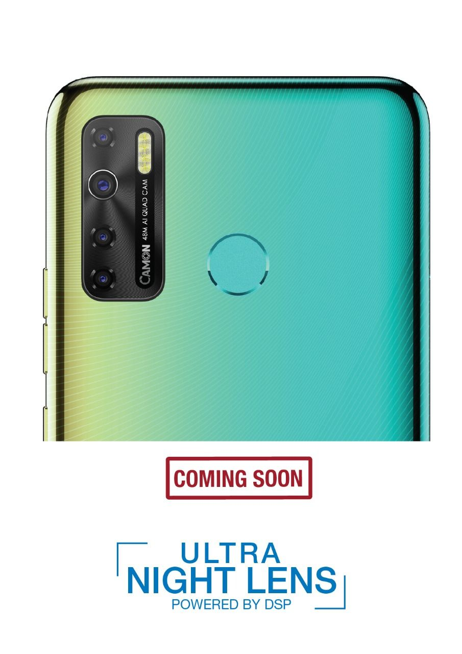 new tecno camon phone with 48mp quad rear camera to launch in india