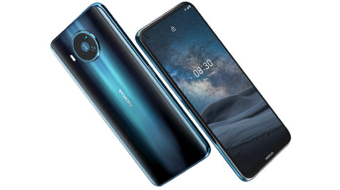 Nokia-8-3-5g officially launched 64mp quad 20mp selfie camera punch hole 8gb ram snapdragon 756g specs price sale