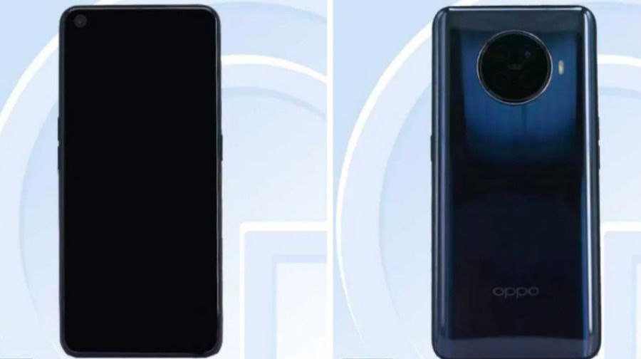 Oppo Reno Ace 2 render image leaked punch hole display circle shape quad rear camera revealed