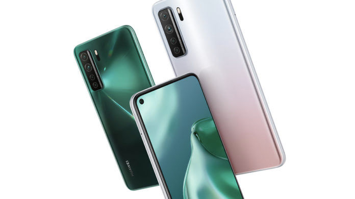 Huawei P40 lite 5G launched 64mp quad camera 40w 4000 mah battery specs price sale