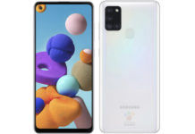 Samsung Galaxy A21s 5000mah battery quad rear camera punch hole display full specs price sale realme narzo