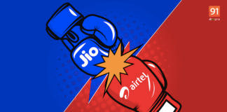 Reliance Jio 101 rs vs Bharti Airtel rs 98 add on packs benefits 12gb 4g data free offer