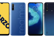Moto G8 Power Lite vs Realme Narzo 10A comparison full specs price sale 5000mah battery ram camera