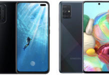 Samsung Galaxy A71 vs Vivo V19 comparison camera battery display design processor performance review in hindi