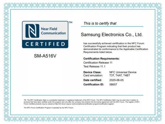 galaxy-a51s-5g-nfc-certification