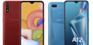 Samsung Galaxy M01 vs OPPO A12 comparison review specs camera battery processor price sale
