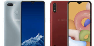 Samsung Galaxy M01 vs OPPO A11k see full details price rs specs sale camera ram battery