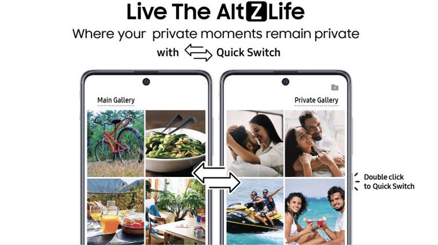 Samsung AltZLife Quick Switch Content Suggestions Privacy feature india Galaxy A71 A51