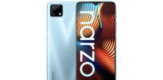 realme narzo 30 retail box image india launch soon