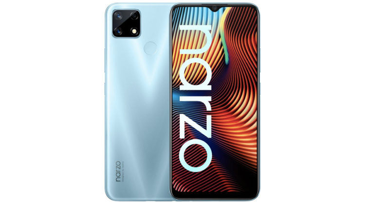 realme narzo 30 retail box image india launch soon
