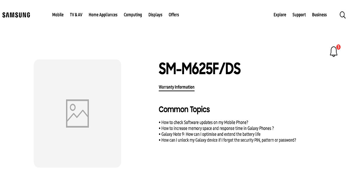samsung galaxy m62 support page live on indian website launch soon