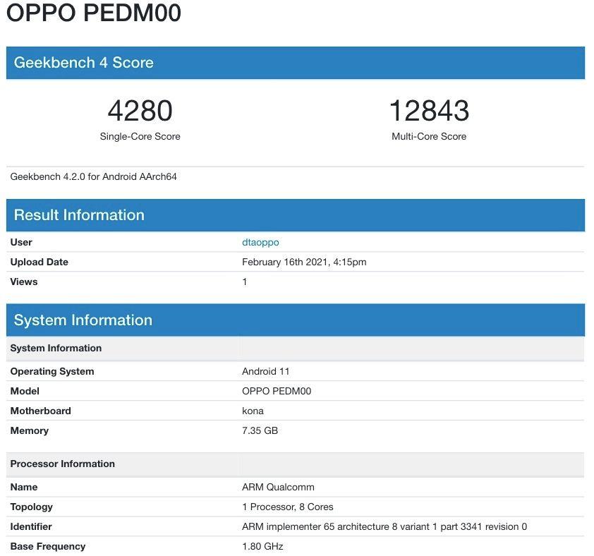 oppo-find-x3-geekbench-snapdragon-870