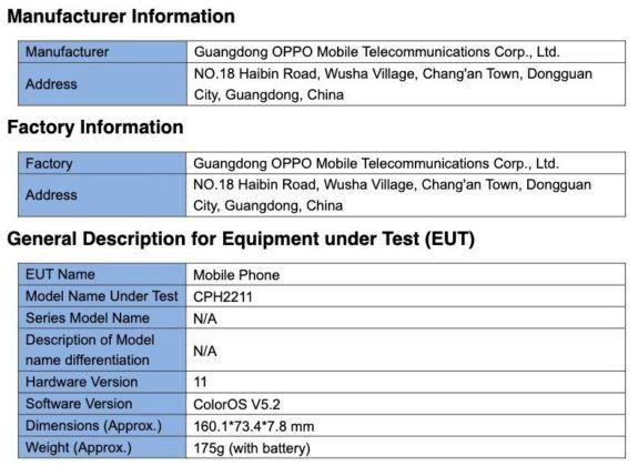 oppo-reno-5z-5g-fcc-listing-specs-leaked