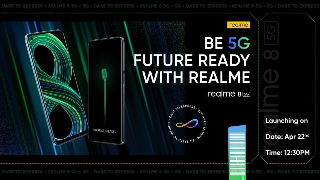 Realme 8 5G India Launch on 22 April with Dimensity 700 processor