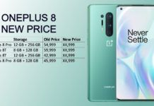 oneplus 8 and oneplus 8t new price in india