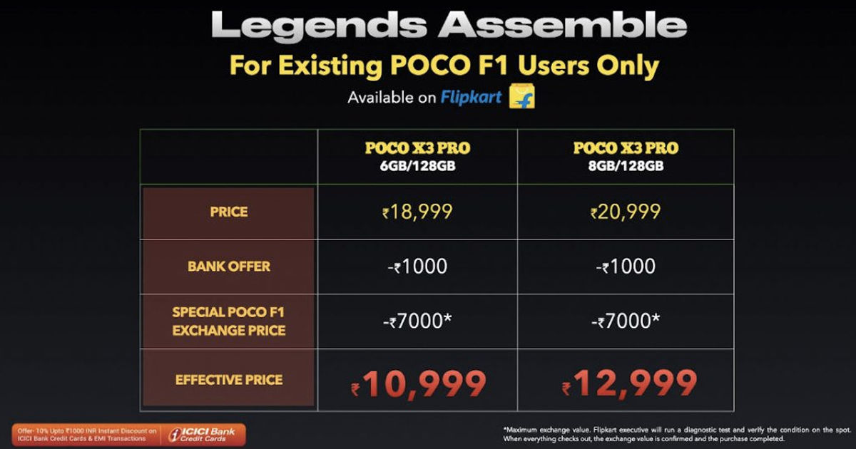 poco x3 pro offer rs 8000 discount on flipkart sale effective price 10999