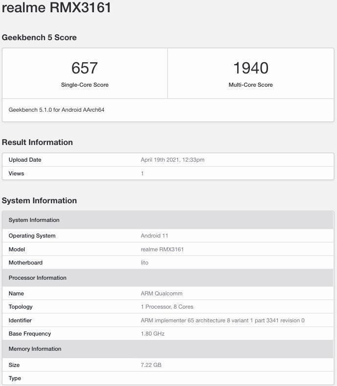 realme-rmx3161-geekbench