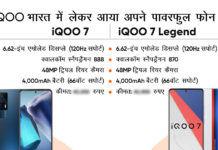 iQOO 7 Legend and iQOO 7