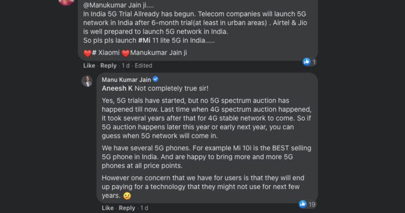 Xiaomi Not Launching 5G Phone in India Mi 11 Lite 4G