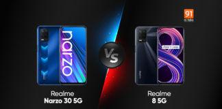 realme narzo 30 5g vs realme 8 5g india price specifications comparison