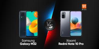 Samsung Galaxy M32 vs Xiaomi Redmi Note 10 Pro