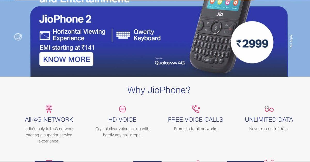 Jio phone 2 may be discontinued