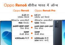Oppo Reno 6 and Reno 6 price in India