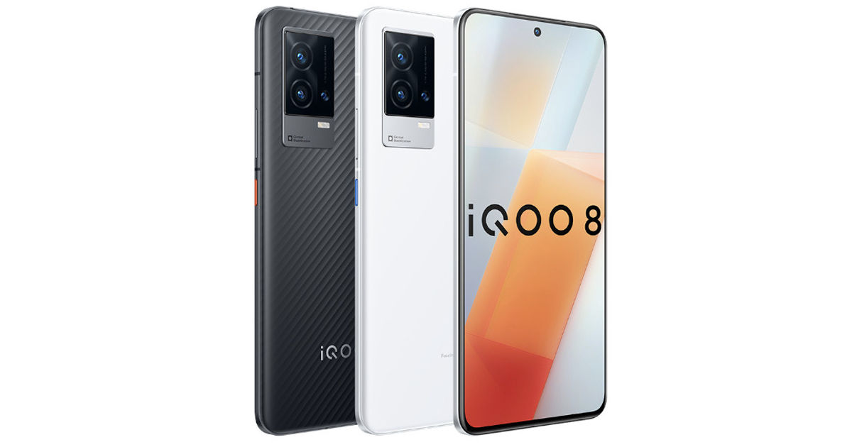 iQOO 8 launched with 12gb ram snapdragon 888 120W ultra-fast flash charging